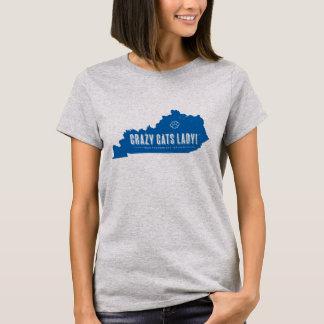 熱狂するな猫の女性Tシャツ Tシャツ