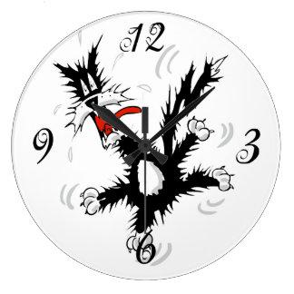 熱狂するな猫の柱時計 ラージ壁時計
