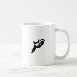 熱狂するな白黒タキシードの子猫 コーヒーマグカップ