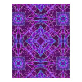 熱狂するな紫色のピンクの抽象芸術 レターヘッド