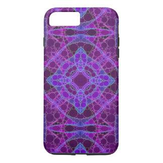 熱狂するな紫色のピンクの抽象芸術 iPhone 8 PLUS/7 PLUSケース