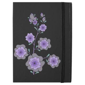 """熱狂するな紫色の花の黒 iPad PRO 12.9"""" ケース"""
