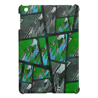 熱狂するな緑の黒の抽象芸術の質 iPad MINI CASE