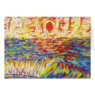 熱狂するな色の日没 グリーティングカード