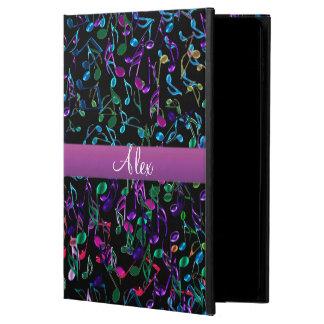 熱狂するな虹音楽はモノグラムのiPadの空気2箱に注意します Powis iPad Air 2 ケース