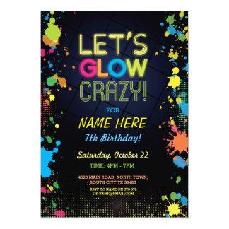 熱狂するな誕生日のネオンペンキの招待状は光ろう カード