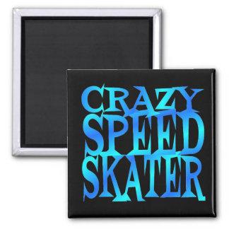 熱狂するな速度のスケート選手 マグネット