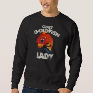 熱狂するな金魚の女性 スウェットシャツ