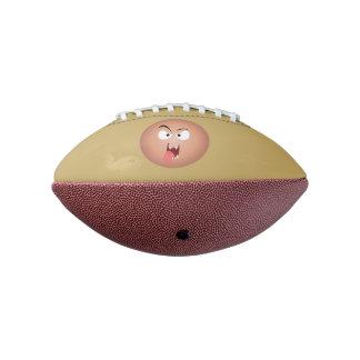 熱狂するな顔の小型フットボール アメリカンフットボール