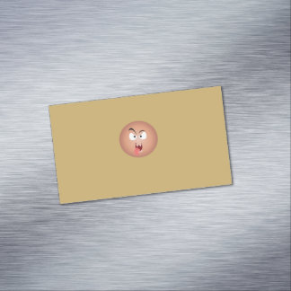 熱狂するな顔の磁気名刺 マグネット名刺