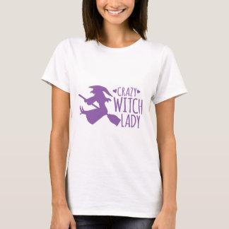 熱狂するな魔法使いの女性 Tシャツ