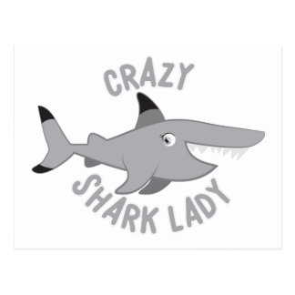 熱狂するな鮫の女性円 ポストカード