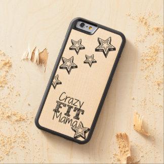 熱狂するなCarved Wood適合のママiPhoneの場合 CarvedメープルiPhone 6バンパーケース