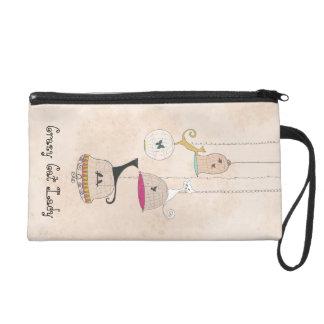 熱狂するなCats n猫の女性鳥かごのリストレットの財布 リストレット