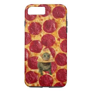 熱狂するなPepperoniピザおよびピザ猫 iPhone 8 Plus/7 Plusケース
