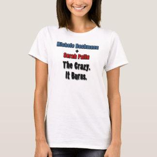 熱狂するのそれ燃やすミケーレBachmannサラ・ペイリン氏 Tシャツ