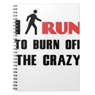 熱狂するの燃焼させる台無しになることおよび健康、 ノートブック