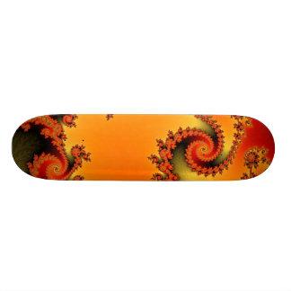 燃えるようで熱い二重螺線形のスケートボード 20.6CM スケートボードデッキ