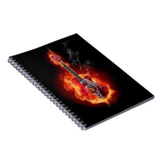 燃えるようなギター ノートブック