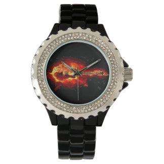 燃えるようなギター 腕時計