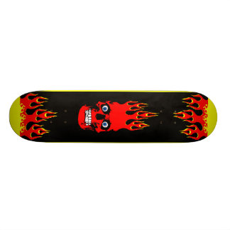 燃えるようなスカルのスケートボード スケボーデッキ