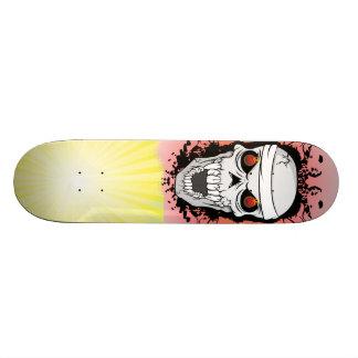 燃えるようなスカルのスケートボード スケートボード