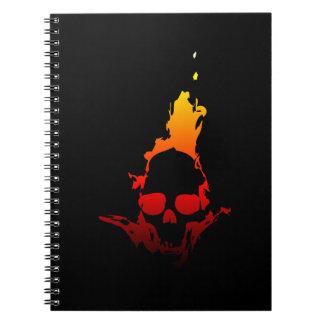 燃えるようなスカル ノートブック