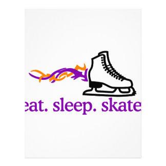 燃えるようなスケート レターヘッド