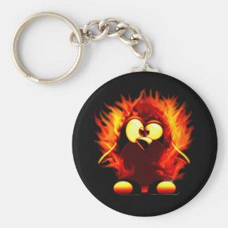 燃えるようなタキシード(ペンギンのトーチ) キーホルダー