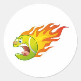 燃えるようなテニス・ボール ラウンドシール