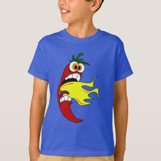 燃えるようなトウガラシ Tシャツ