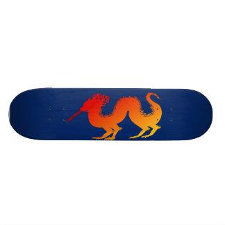 燃えるようなドラゴンの青のスケートボード オリジナルスケートボード