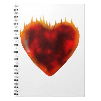 燃えるようなハート ノートブック