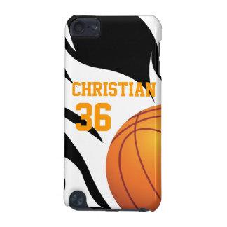 燃えるようなバスケットボールB/Wを個人化して下さい iPod TOUCH 5G ケース