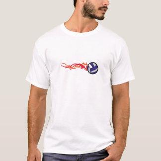 燃えるようなバレーボール Tシャツ
