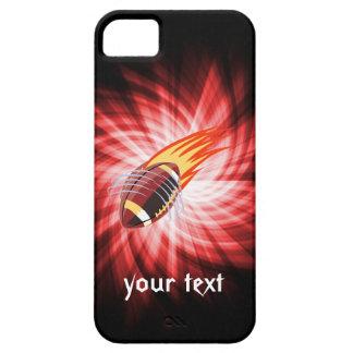 燃えるようなフットボール; 赤い iPhone SE/5/5s ケース