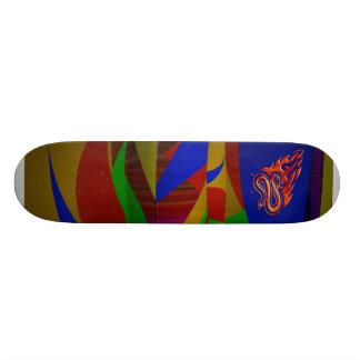 燃えるようなヘビのスケートボード 20.6CM スケートボードデッキ