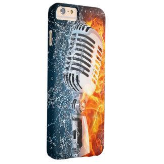 燃えるようなマイクロフォンのiPhone6ケース Barely There iPhone 6 Plus ケース