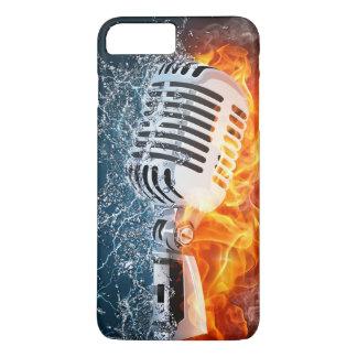 燃えるようなマイクロフォンのiPhone 7の場合 iPhone 8 Plus/7 Plusケース