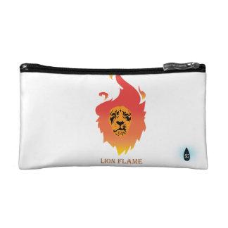 燃えるようなライオンのリストレット コスメティックバッグ