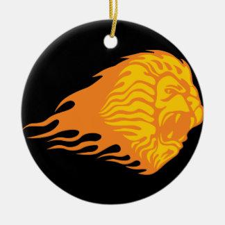 燃えるようなライオン#1 セラミックオーナメント