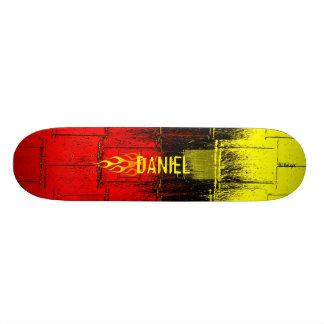 燃えるような名前 18.1CM オールドスクールスケートボードデッキ