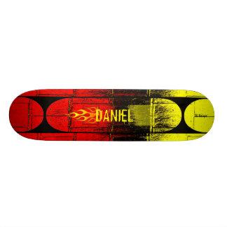 燃えるような名前 21.6CM スケートボードデッキ