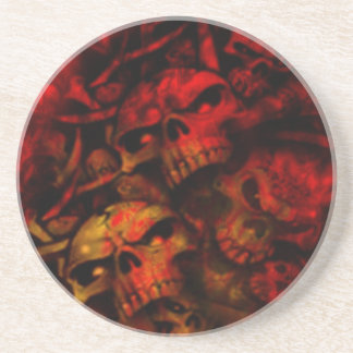 燃えるような地獄のゴシック様式スカルの芸術 コースター
