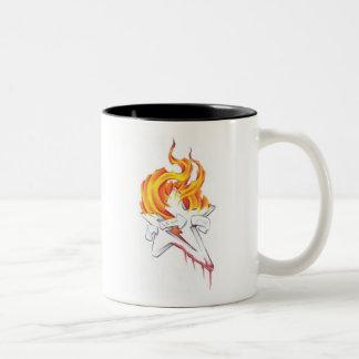 燃えるような星のマグ ツートーンマグカップ