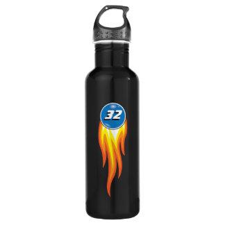 燃えるような火球熱いSuffあなたのお気に入りのな数 ウォーターボトル
