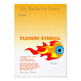 燃えるような眼球の飲み物のレシピ カード