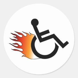 燃えるような車椅子 ラウンドシール