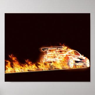 燃えるような車 ポスター