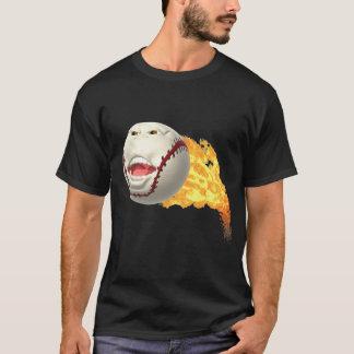 燃えるような野球のTシャツ Tシャツ